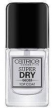 Парфюми, Парфюмерия, козметика Топ лак - Catrice Super Dry Gloss Top Coat
