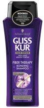 Парфюми, Парфюмерия, козметика Възстановяващ шампоан за третирана и увредена коса - Schwarzkopf Gliss Kur Fiber Therapy Shampoo