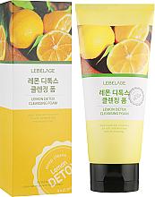 Парфюмерия и Козметика Почистваща детокс пяна за лице с лимон - Lebelage Lemon Detox Cleansing Foam