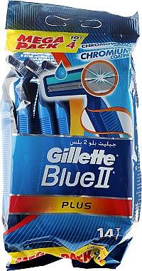 Комплект самобръсначки за еднократна употреба 10+4бр - Gillette Blue II Plus