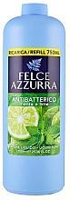Парфюмерия и Козметика Течен сапун с мента и лайм - Felce Azzurra Antibacterial Mint & Lime (пълнител)