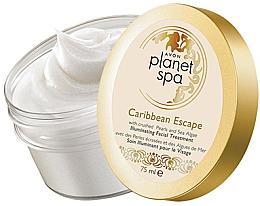 Парфюми, Парфюмерия, козметика Озаряващ нощен гел-крем за лице с перлен прах и водорасли - Avon Planet Spa