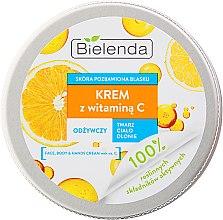 Парфюми, Парфюмерия, козметика Универсален подхранващ крем за лице и тяло с витамин C - Bielenda Universal Cream Vitamin C