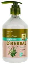 Парфюми, Парфюмерия, козметика Овлажняващ лосион за тяло с екстракт от алое вера - O'Herbal Moisturizing Lotion
