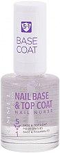 Парфюмерия и Козметика Основа и топ лак за нокти - Rimmel Nail Nurse 5 in 1 Nail Base & Top Coat