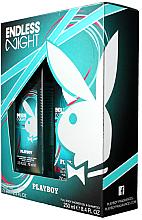 Парфюми, Парфюмерия, козметика Playboy Endless Night - Комплект (душ гел/250ml + спрей за тяло/75ml)