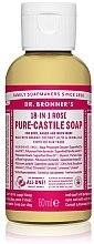 """Парфюми, Парфюмерия, козметика Течен сапун """"Роза"""" - Dr. Bronner's 18-in-1 Pure Castile Soap Rose"""