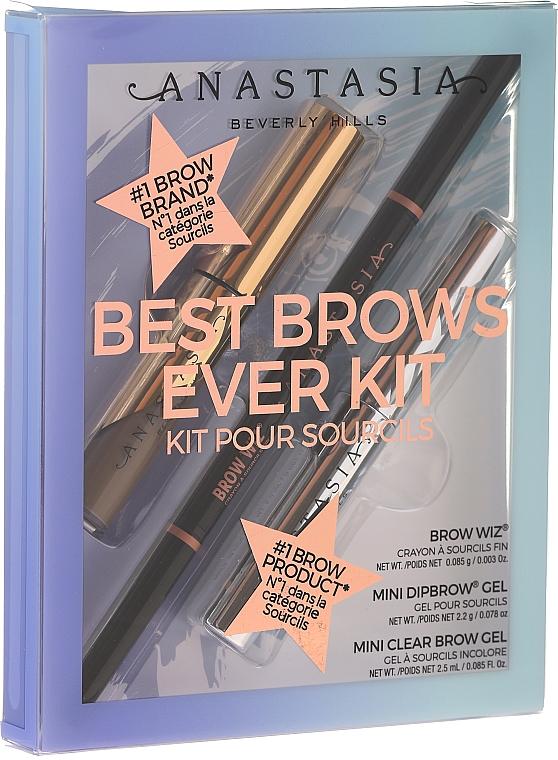 Комплект за вежди - Anastasia Beverly Hills Best Brows Ever Medium Brown (молив/0.08g + гел/2.5ml + гел/2.2g) — снимка N1