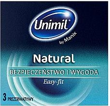 Парфюми, Парфюмерия, козметика Презервативи, 3 бр. - Unimil Natural