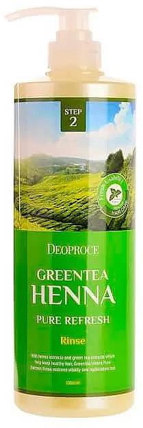 Освежаващ балсам за коса със зелен чай и къна - Deoproce Green Tea Henna Pure Refresh Rinse — снимка N1