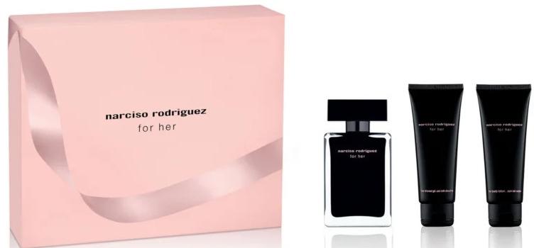 Narciso Rodriguez For Her - Комплект (тоал. вода/50ml + лосион за тяло/75ml + душ гел/75ml) — снимка N1