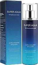 Парфюмерия и Козметика Хидратираща хиалуронова емулсия за лице - Missha Super Aqua Ultra Hyalron Emulsion