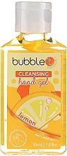 """Парфюмерия и Козметика Антибактериален гел за ръце """"Лимон"""" - Bubble T Cleansing Hand Gel"""