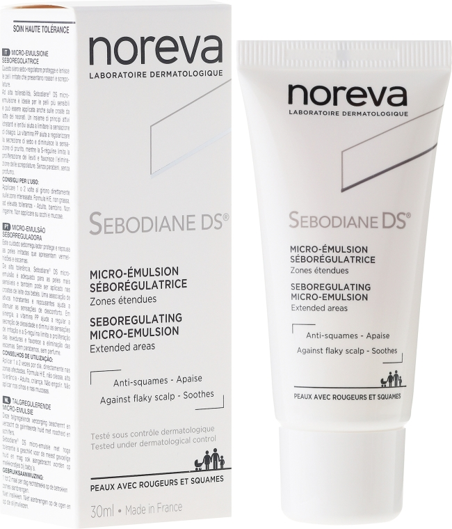 Серум за коса - Noreva Sebodiane DS Sebum-Regulating Micro-Emulsion