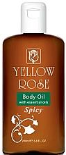 Парфюмерия и Козметика Омекотяващо масло за тяло - Yellow Rose Body Oil With Essential Oils Spicy