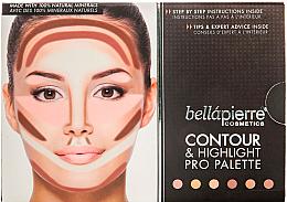 Парфюмерия и Козметика Компактна контурираща палитра за лице - Bellapierre Cosmetics Contour & Highlight Pro Palette