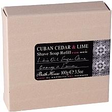 Парфюмерия и Козметика Bath House Cuban Cedar & Lime - Сапун за бръснене (пълнител)