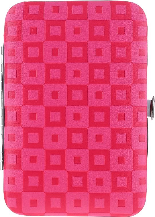 Комплект за маникюр и педикюр, 6 инструмента 79696, розов - Top Choice — снимка N1