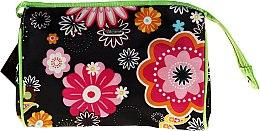 "Парфюми, Парфюмерия, козметика Несесер ""Flower"" 92688, черен - Top Choice"