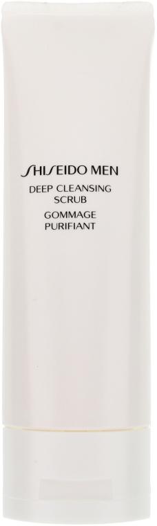 Скраб за дълбоко почистване на кожата - Shiseido Men Deep Cleansing Scrub  — снимка N2