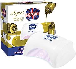 Парфюмерия и Козметика Лампа LED за нокти, бяла - Ronney Profesional Agnes LED 48W (GY-LED-032)