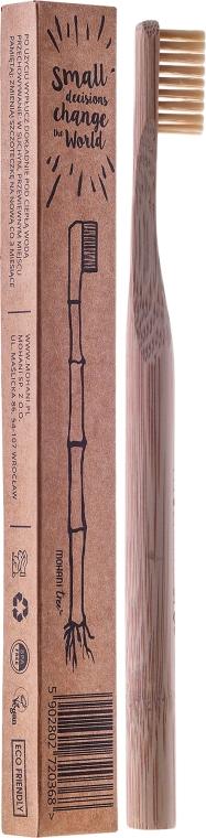 Бамбукова четка за зъби, средна твърдост, натурална - Mohani Toothbrush