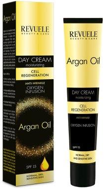 Дневен крем за лице - Revuele Argan Oil Day Cream