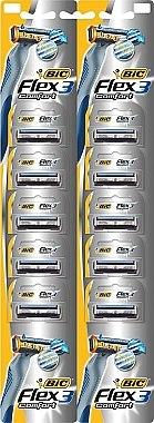 """Комплект самобръсначки """"Flex 03"""" - Bic Flex 3 Nano-Tech Vitamin E & Aloe — снимка N1"""