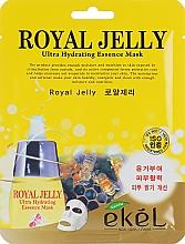 Парфюмерия и Козметика Подхранваща памучна маска за лице с пчелно млечице - Ekel Royal Jelly Hydrating Essence Mask