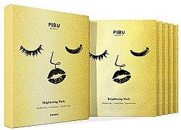 Парфюми, Парфюмерия, козметика Комплект маски за лице - Pibu Beauty Brightening Mask Set (f/mask/5x29ml)