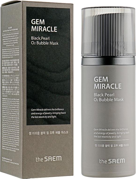 """Кислородна маска за лице """" Черна перла"""" - The Saem Gem Miracle Black Pearl O2 Bubble Mask — снимка N1"""