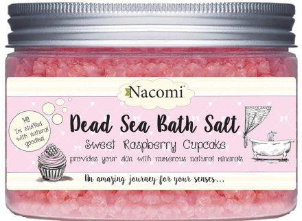 Соли от Мъртво море с аромат на малина - Nacomi Sweet Raspberry Cupcake Bath Salt — снимка N1