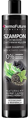 Шампоан за коса с активен въглен - DermoFuture Hair Shampoo With Activated Carbon