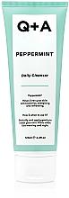 Парфюмерия и Козметика Почистваща емулсия за лице с мента - Q+A Peppermint Daily Cleanser