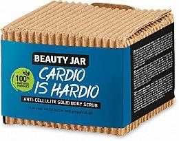 Парфюмерия и Козметика Твърд антицелулитен скраб за тяло - Beauty Jar Cardio Is Hardio Anti-Cellulite Solid Body Scrub