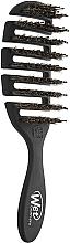 Парфюмерия и Козметика Гребен за коса, черен - Wet Brush Pro Flex Dry Shine Enhancer Black