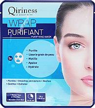 Парфюмерия и Козметика Почистваща памучна маска за лице - Qiriness Wrap Purifiant Mask