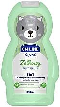 Парфюмерия и Козметика Измиващ гел за коса, тяло и лице с аромат на плодови желирани бонбони - On Line Le Petit Fruit Jellies 3 In 1 Hair Body Face Wash