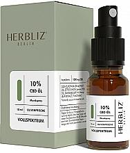 Парфюмерия и Козметика Спрей за уста с масло от маслина и канабидиол 10% - Herbliz CBD Olive Fresh Oil Mouth Spray 10%