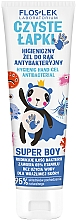 Парфюмерия и Козметика Антибактериален гел за ръце - Floslek Super Boy Hygienic Antibacterial Hand Gel