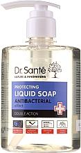 Парфюмерия и Козметика Антибактериален сапун за ръце с масло от чаено дърво и лавандула - Dr. Sante Antibacterial Liquid Soap Double Action