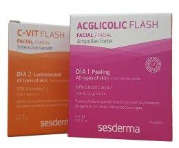 Парфюми, Парфюмерия, козметика Комплект с интензивен серум и ампули с гликолова киселина - SesDerma Laboratories Efekt Flash (serum/2ml + serum/2ml)