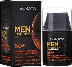 Парфюми, Парфюмерия, козметика Подхранващ и възстановяващ крем против бръчки 50+ - Soraya Men Energy