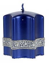 """Парфюмерия и Козметика Декоративна свещ """"Звезда"""", синя, 9х10см - Artman Crystal Opal Pearl"""