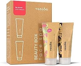 Парфюмерия и Козметика Комплект маски за лице - Resibo Beauty Box Face Spa (mask/mini/15ml + peel/mini/15ml)