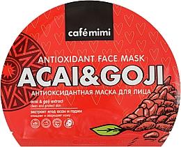 Парфюмерия и Козметика Антиоксидантна памучна маска за лице - Cafe Mimi Antioxidant Fase Mask Acai & Goji
