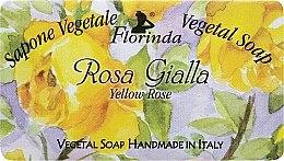 """Парфюмерия и Козметика Натурален сапун """"Жълта роза"""" - Florinda Sapone Vegetal Soap Yellow Rose"""