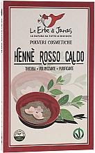 """Парфюмерия и Козметика Натурална къна на прах """"Огнено червена"""" - Le Erbe di Janas Red Henna Hot Shades"""