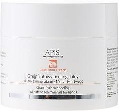 """Парфюми, Парфюмерия, козметика Пилинг за ръце """"Грейпфрут и минерали от Мъртво море"""" - APIS Professional Grapefruit terApis Salt Peeling"""