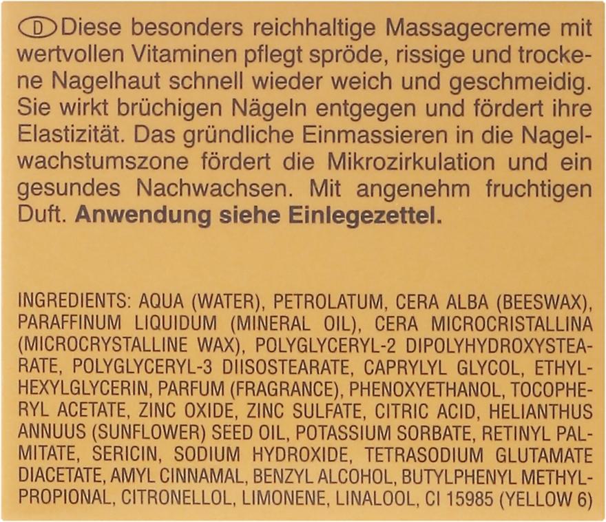 Масажен крем за нокти с напукани и сухи кутикули - Artdeco Nail Massage Cream — снимка N3